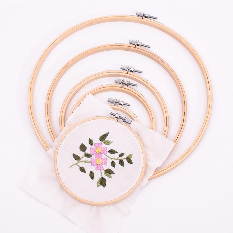 Bordado aro círculo cruz anel de argola do ponto 8cm a 26cm redondo aro bordado quadro a granel atacado de bambu costura agulha trabalho