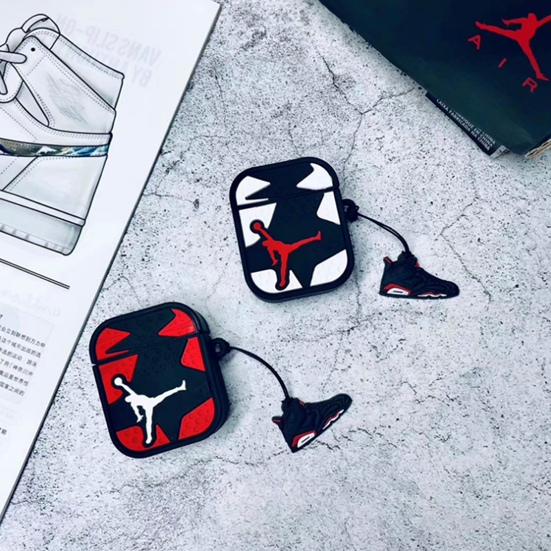 European And American Basketball AirPods 1.2 Generation Protection Cover Personality Trendy Male Apple Wireless Bluetooth Headse