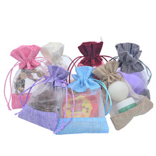50pcs/lot Candy Color Sacks Party Favors Gift Packaging Bags Wedding Birthday Favor Pouches Linen Drawstring Gift Bags 50pcs lot jute bags burlap drawstring gift bag linen storage pouches wedding party favor candy jewelry packaging bags