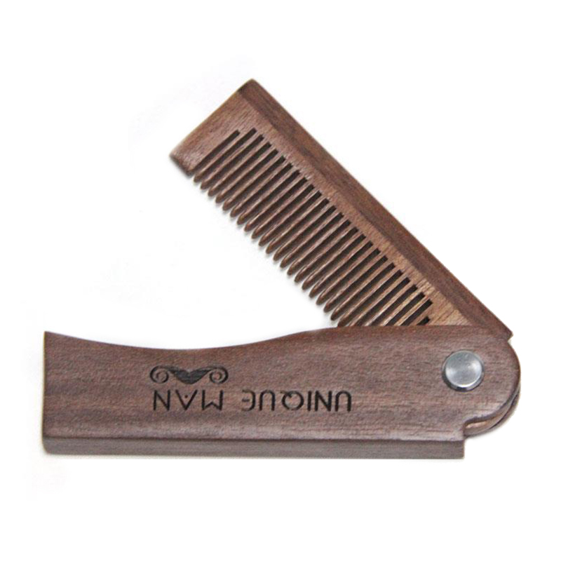 Natural Red Sandal Wood Fold Comb Hair Comb For Men Beard Care  Anti-static Wooden Comb Hair Care Tools Hair Brush 1pc