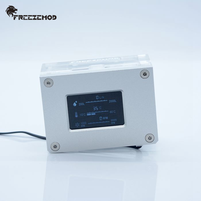 Image 3 - FREEZEMOD pc water cooler 2019 new intelligent computer flow speed temperature detection water cooler flow meter. LSJ ZN-in Fans & Cooling from Computer & Office