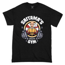 New Saitama GYM One Punch Man Funny Short Sleeve Men T Shirt Size S-3XL Men High Quality Custom Printed Tops Hipster Tees(China)