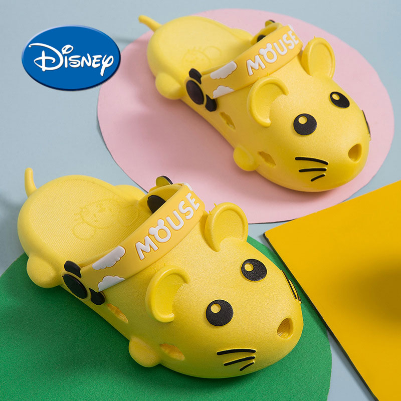 Disney Water-proof Kids Slippers Non-slip PVC Soft Sole Children Water Shoes Home Indoor Sandals
