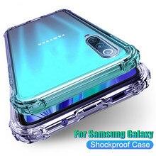 Lüks darbeye dayanıklı durumda Samsung Galaxy A21S A21 M21 M31 M31S M30S A51 A71 S20 FE S20 artı not 20 ultra şeffaf telefon kapak