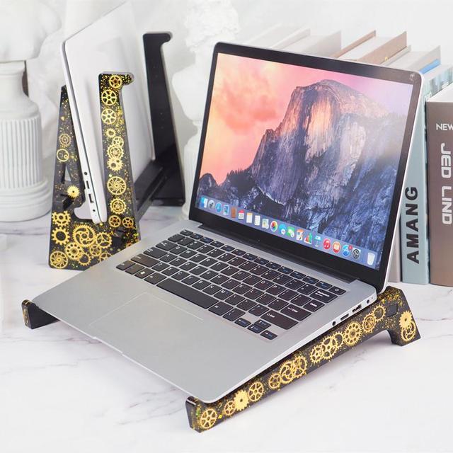 DIY kryształ silikonowe formy podstawka do laptopa żywica epoksydowa UV formy Handmade stojak na Tablet dekoracji wnętrz rzemiosło żywiczne tanie i dobre opinie CN (pochodzenie) SILICONE