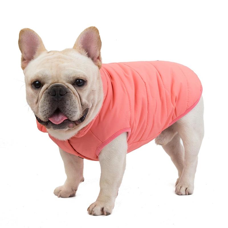 Warm Dog Buckle Clothes Pet Dog Coat Jacket Puppy Padded Winter Vest Poodle XS-L