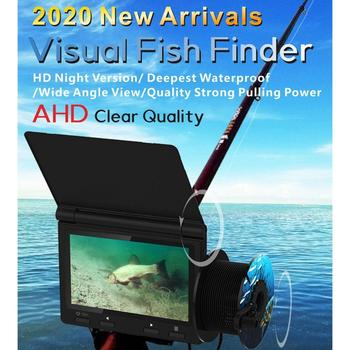 цена на 4.3 inch Monitor 1000TVL Fish Finder Underwater Fishing Camera With Fishing Rod 175 Degrees Sea Wheel Camera For Fishing