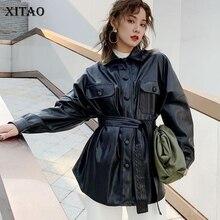 XITAO/модное осенне-зимнее пальто из искусственной кожи для женщин; женская кожаная куртка в байкерском стиле; уличная одежда; DMY1305