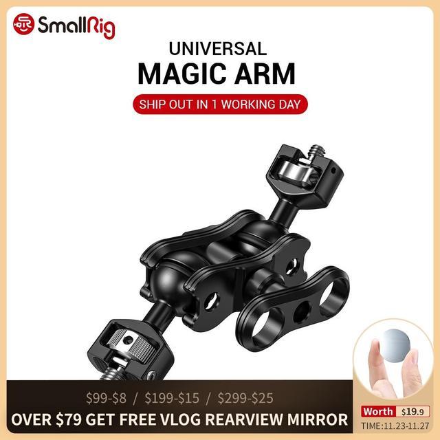 SmallRig DSLR kamera eklemli sihirli kol çift Ballheads (1/4 ve 3/8 vidaları) ayarlanabilir mafsallı kol 2212