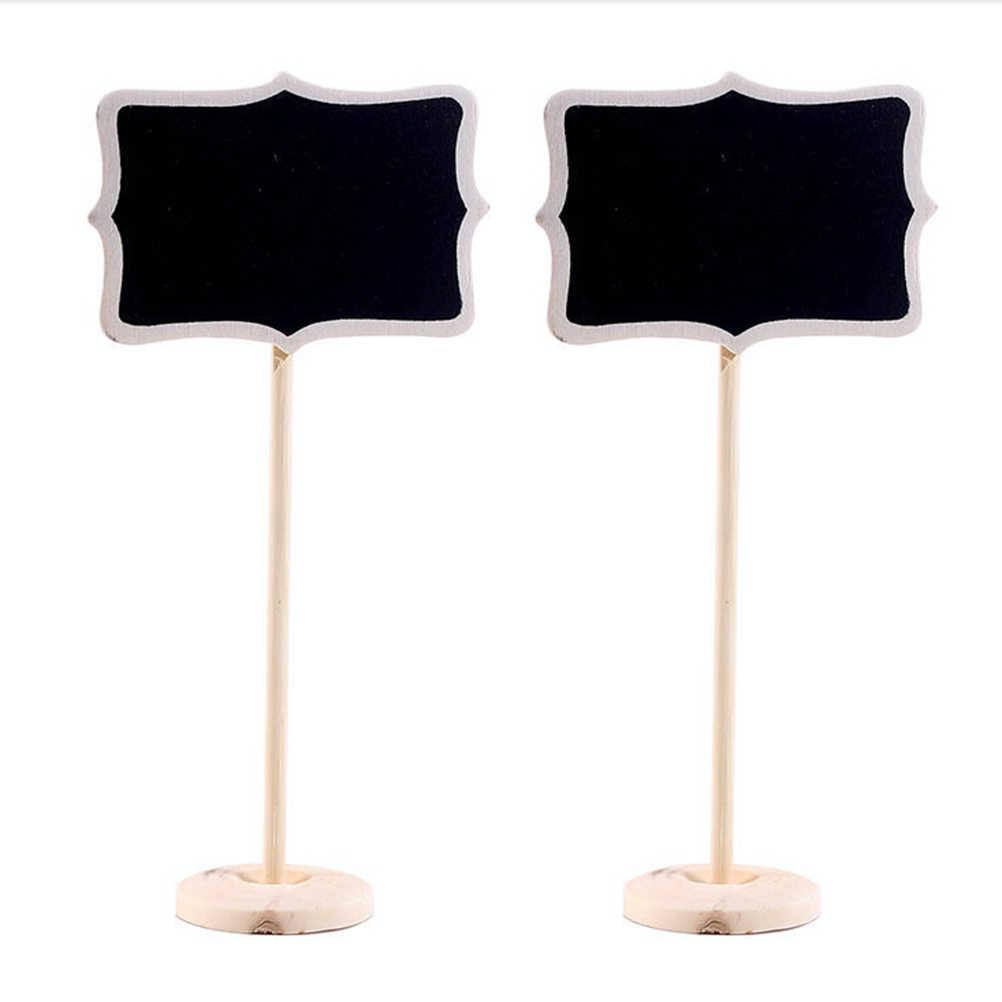 5pc Mini Paint Wood Board Small Wooden Chalk Blackboard Wedding Kitchen Restaurant Signs Writing Notice Message