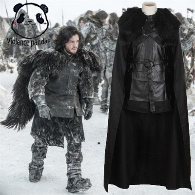 Game of Thrones A Song Ice and Fire  Jon Snow cosplay hot cool Halloween costume