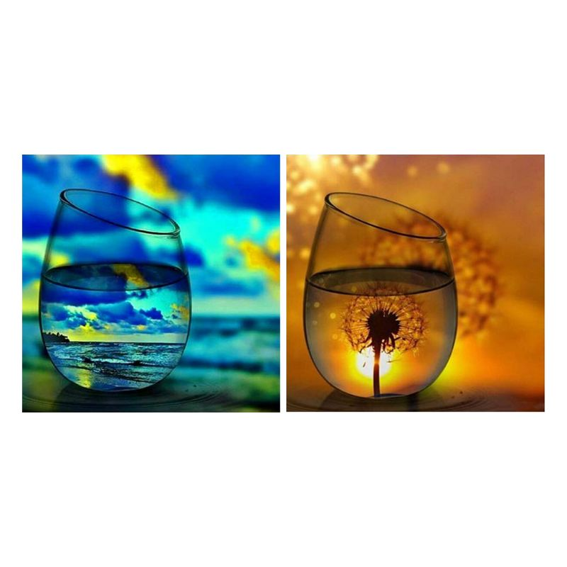 DIY 5D Diamond Painting Kits for Adults,Dandelions Full Drill Crystal Rhinestone Embroidery for Home Wall Decor 12X12in