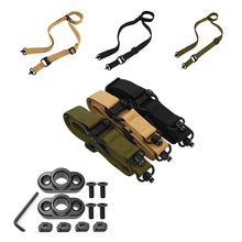 TacticalDouble-point Gun Rope Rifle Sling Metal Hook Quick Release Belt Air Gun Paintball Military Gun Sling Hunting Accessories