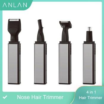 цена на ANLAN Electric Nose Ear Hair Trimmer Rechargeable Beard Eyebrow Trimmer Razor 4 in1 Electric Nose Ear Shaver Hair Cutter Clipper