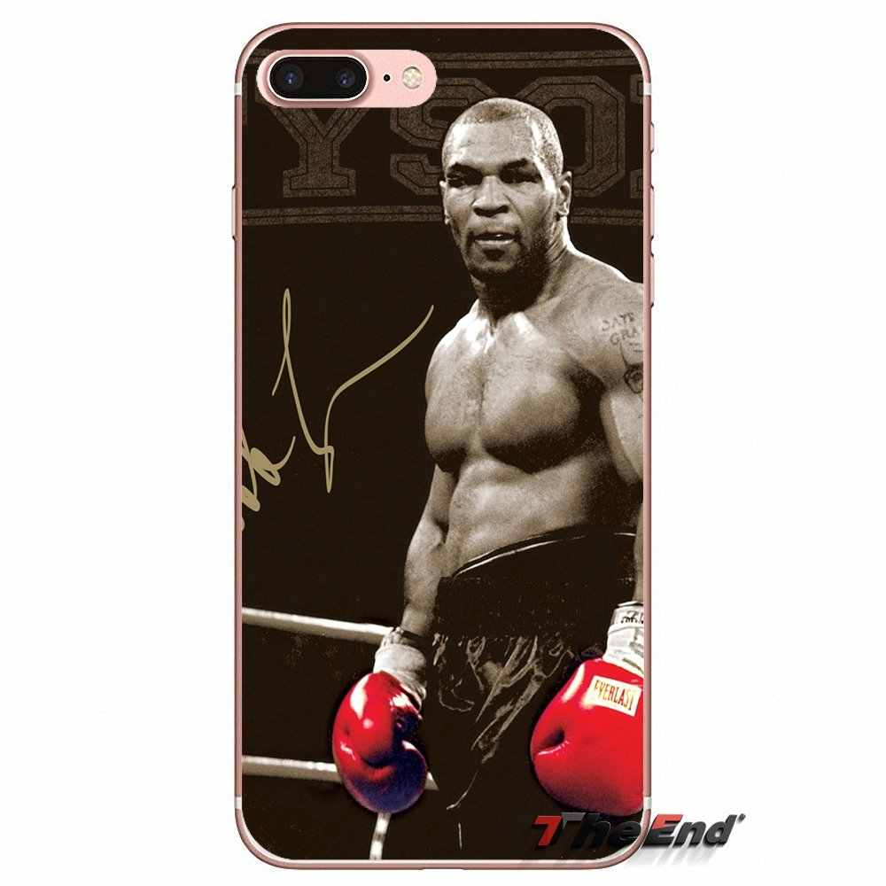 สำหรับ iPhone X 4 4S 5S 5C SE 6 6S 7 8 Plus Samsung Galaxy J1 j3 J5 J7 A3 A5 2016 2017 มวย king Mike Tyson punch ซิลิโคนกรณี