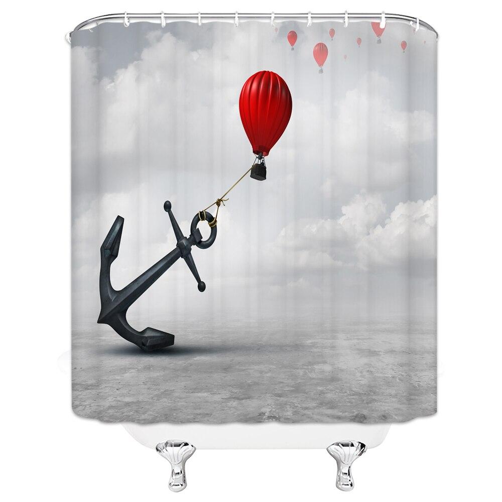 Scenery Hot Air Balloon Shower Curtain