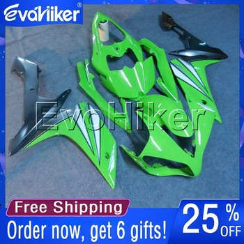 Custom motorcycle cowl for YZF-R1 2007-2008 ABS fairing Injection mold motorcycle bodywork kit green+gifts