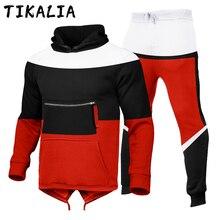 Conjunto de 2 peças conjunto de roupas esportivas de moda jogging terno masculino correndo roupas primavera outono