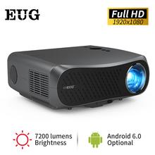CAIWEI Full HD 1080p projektor 7200 lumenów dla domu Android 6 0 projektor dla telefonu komórkowego większość wsparcia 4K wideo Beamer iphone tanie tanio Korekcja ręczna CN (pochodzenie) Projektor cyfrowy 16 09 160W 1920x1080 dpi 7000 lumenów 900D 40-200 cali Led light 8001 1-10 000 1