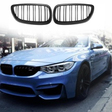 Black Front Kidney Grill Grille For Bmw E92 E93 M3 3 Series Coupe 2006-2010