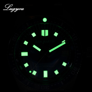 Image 5 - Lugyou San Martin 62Mas Diver Mechanical Automatic Men Watch Stainless Steel NH35 Ceramic Bezel Rubber Band Sapphire Glass