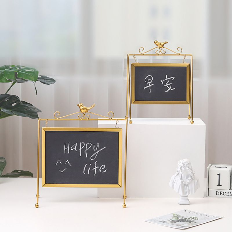 Desktop Memo Message Blackboard Easel Chalkboard Kids Writing Boards For Wedding