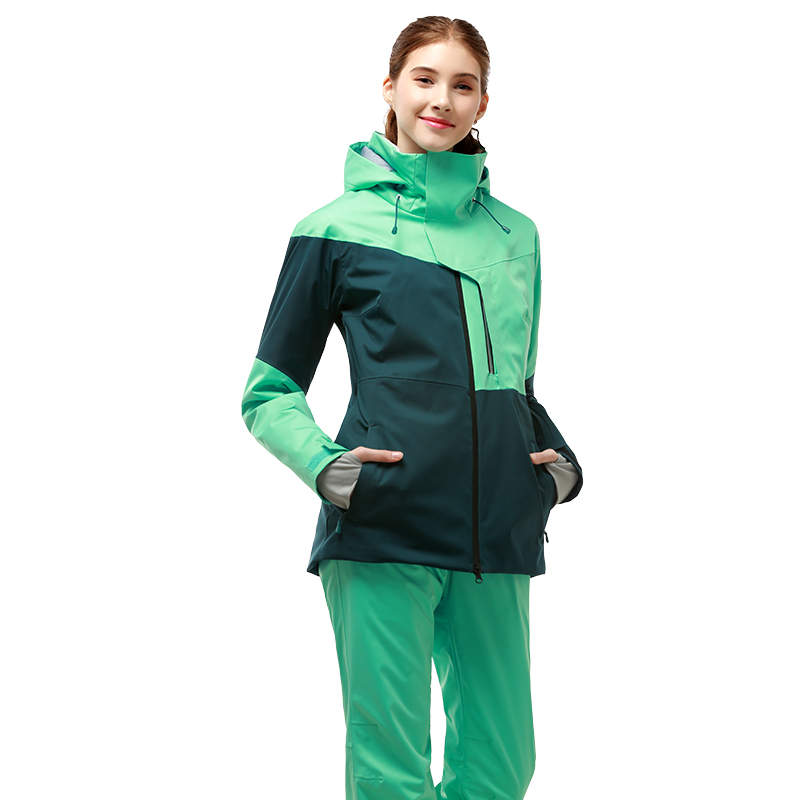 RUNNING RIVER Brand Women High Quality Ski Jacket Winter Warm Hooded Sports Jackets  Professional Outdoor Ski Suit #A9014 B7081