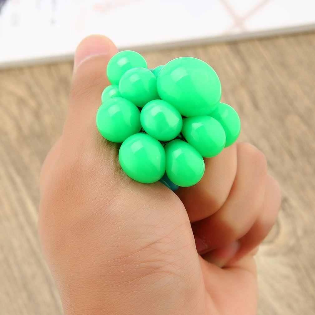 OCDAY 1 adet sevimli Anti stres yüz rahatlatıcı üzüm topu yumuşak otizm ruh sıkma topu Kawaii Squishy komik rölyef sağlıklı oyuncaklar hediye