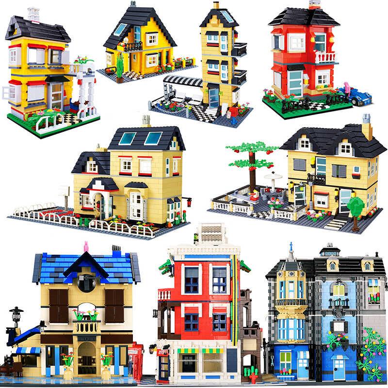 Architektura budynek kapitał miasto miasta willą domek lego Puzzle Model montaż klocki klocki zestaw DIY edukacja boże narodzenie prezenty