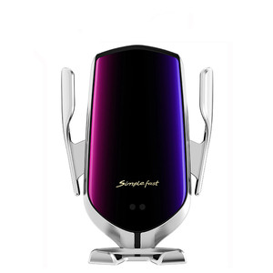 Image 1 - ワイヤレス車の充電器10ワットチー高速充電 クランプ車マウント空気ベント電話ホルダーすべてと互換性スマートフォン