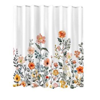180x180cm kwiaty do prysznica łazienki kurtyny kąpielowe łazienki wodoodporny poliester zasłony z nadrukiem 3D domu wystrój łazienki tanie i dobre opinie OUTAD CN (pochodzenie) Nowoczesne Floral Shower Curtain Ekologiczne Zaopatrzony