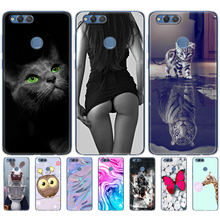 Silicone phone Case For huawei honor 7X cases cover soft TPU Phone Back cover full 360 Protective new design pop