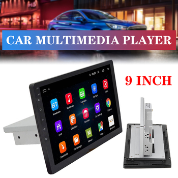 9 / 10.1 Car Multimedia Player 1Din Stereo for Android 8.1 with Up Down Adjustable Screen Wifi bluetooth GPS Nav Radio Player image