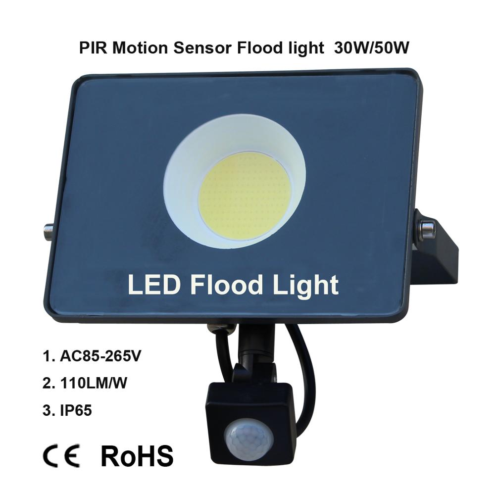 Image 5 - Motion Sensor LED Flood Light IP65 Waterproof 50W 30W 10W Reflector Floodlight Lamp AC 220V foco Led Exterior Outdoor Spot Light-in Floodlights from Lights & Lighting