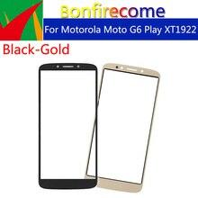 """10 шт \ Лот сенсорный экран для Motorola Moto G6 Play XT1922 сенсорный экран передняя панель стеклянная линза ЖК внешнее стекло 5,7"""""""