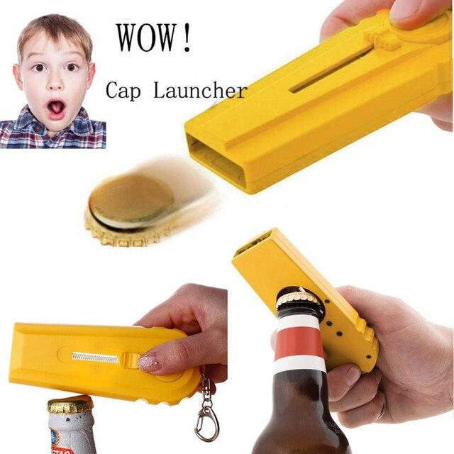 Creative Bottle Beer Portable Cap Gun Flying Cap Launcher55