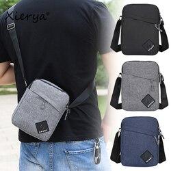 Xierya Men Bag Messenger Bag Backpack Shoulder Bag Men's Simple Casual Waterproof Oxford Cloth Bag Travel Business Satchel Bag