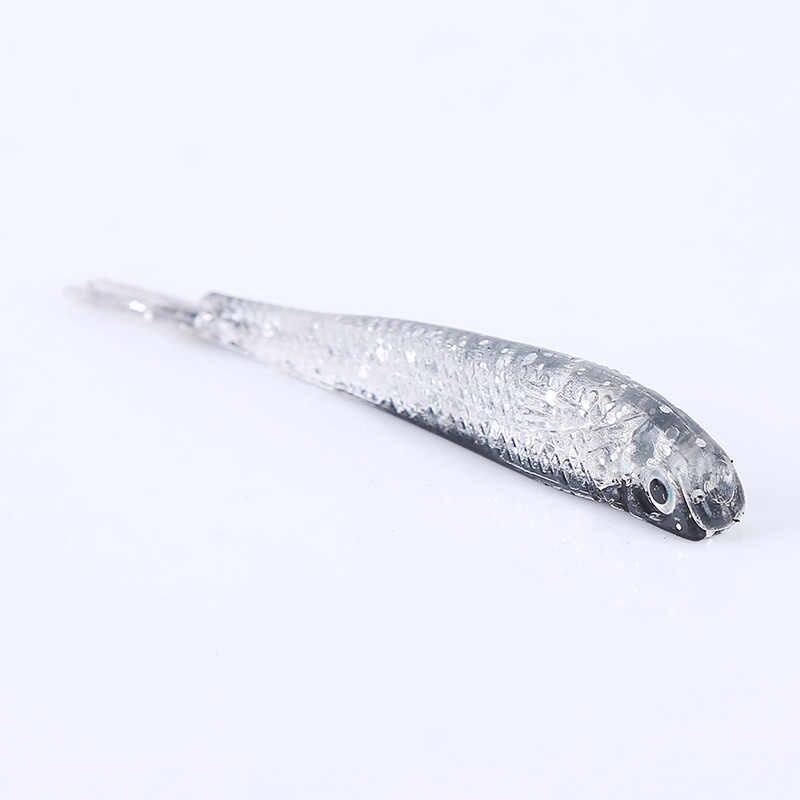 10 teile/paket Künstliche Angeln Locken Weichen Köder Kopf Fisch T-schwanz weichen köder weiche köder Angeln angeln getriebe liefert bionic köder