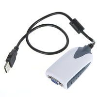 USB 2.0 to VGA Display Adapter Converter Extra Monitor Multi Display for HDTV PC Laptop LCD LED Monitor Projector POS System
