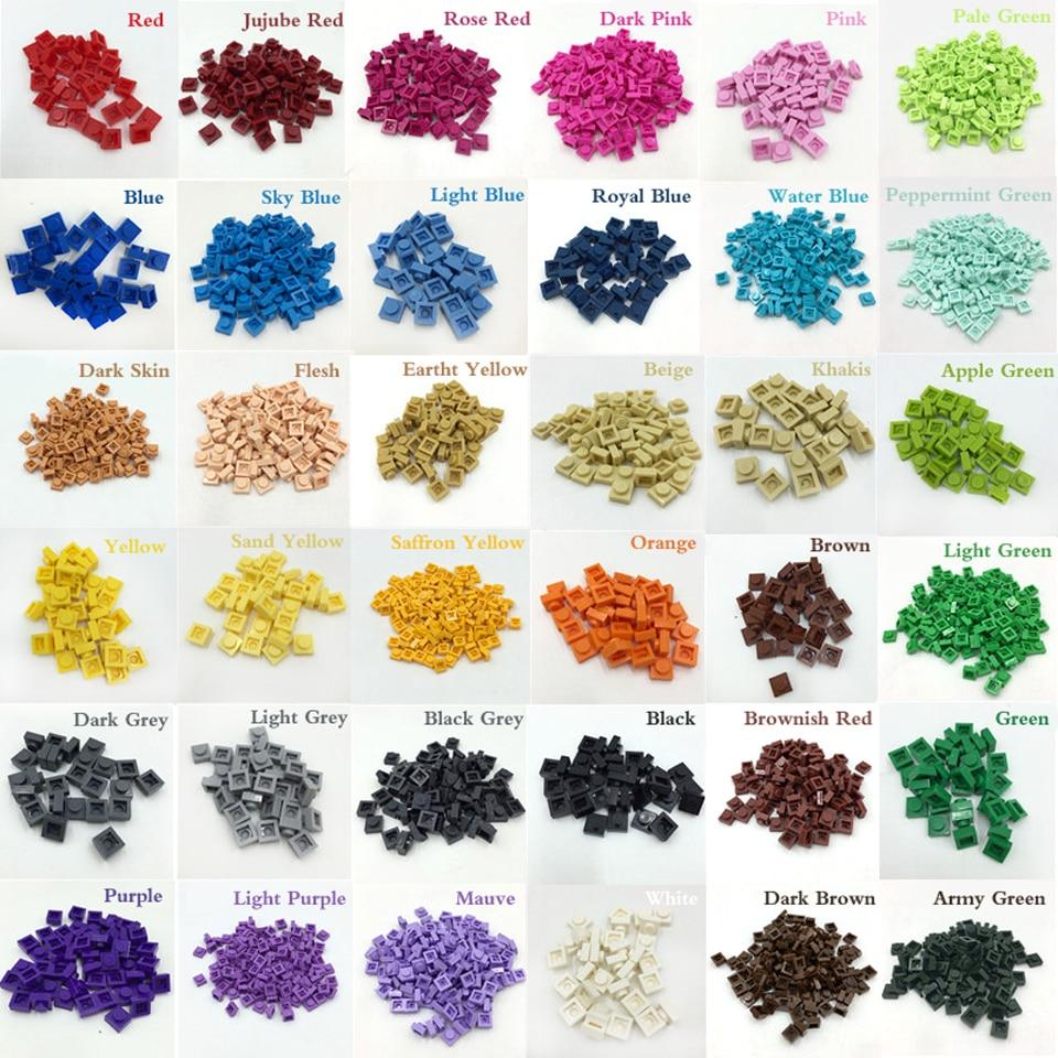 Lot of 25 Lego 1x1 Round Plates Purple