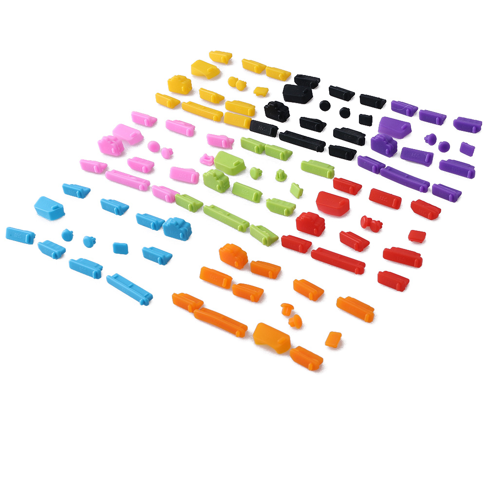 13pcs Laptop Dustproof Tools Fashion Colorful Silicone Anti Dust Plug Cover Stopper Universal Computer Office Accessories Wholes