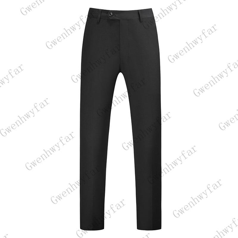 Gwenhwayfar, мужские синие клетчатые брюки, деловой костюм, брюки, деловые повседневные облегающие брюки, Классический Клетчатый костюм, брюки для свадьбы - Цвет: black
