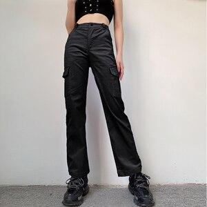 Image 3 - Darlingaga Casual Solid Straight Corduroy Pants Fashion Winter Pockets Trousers High Waist Cargo Pants Women Capris Pantalones
