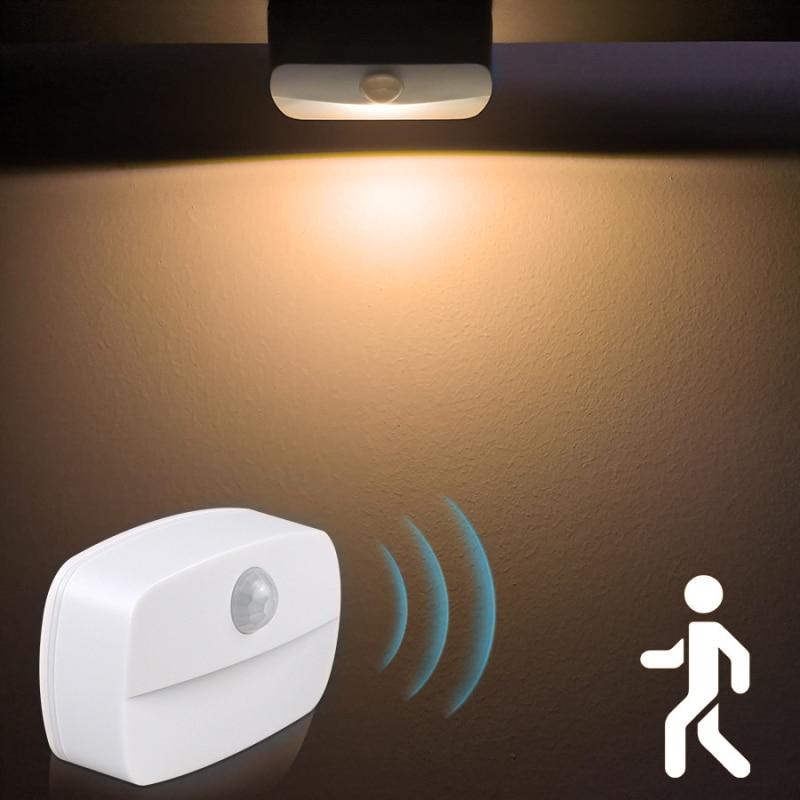 Светодиодный ночной Светильник Беспроводной движения Сенсор светильник s коридор шкафа лестницы номер лампы для Спальня шкаф энергосберег...