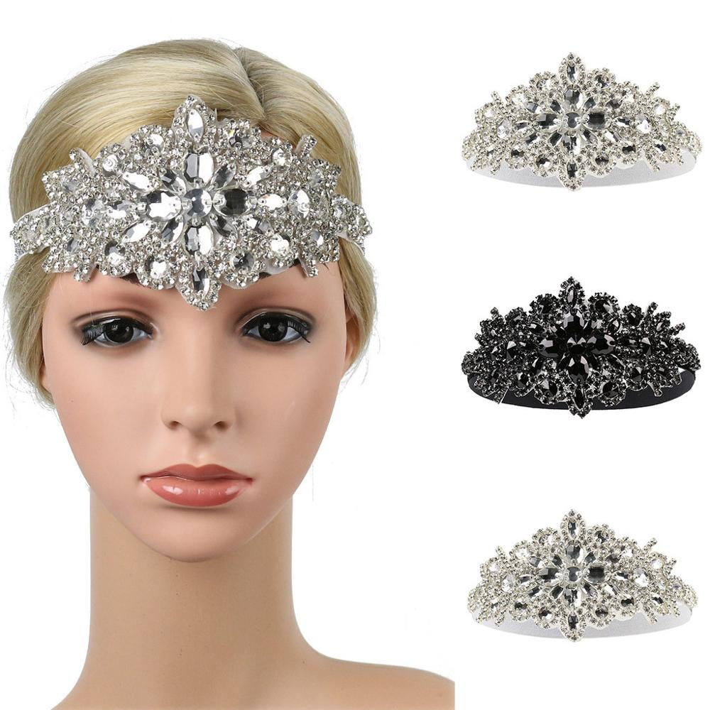 Hand-studded Bridal Headband Women's Elegant Head Strap Diamond Party Hat Hair Clip Wedding Hair Accessories