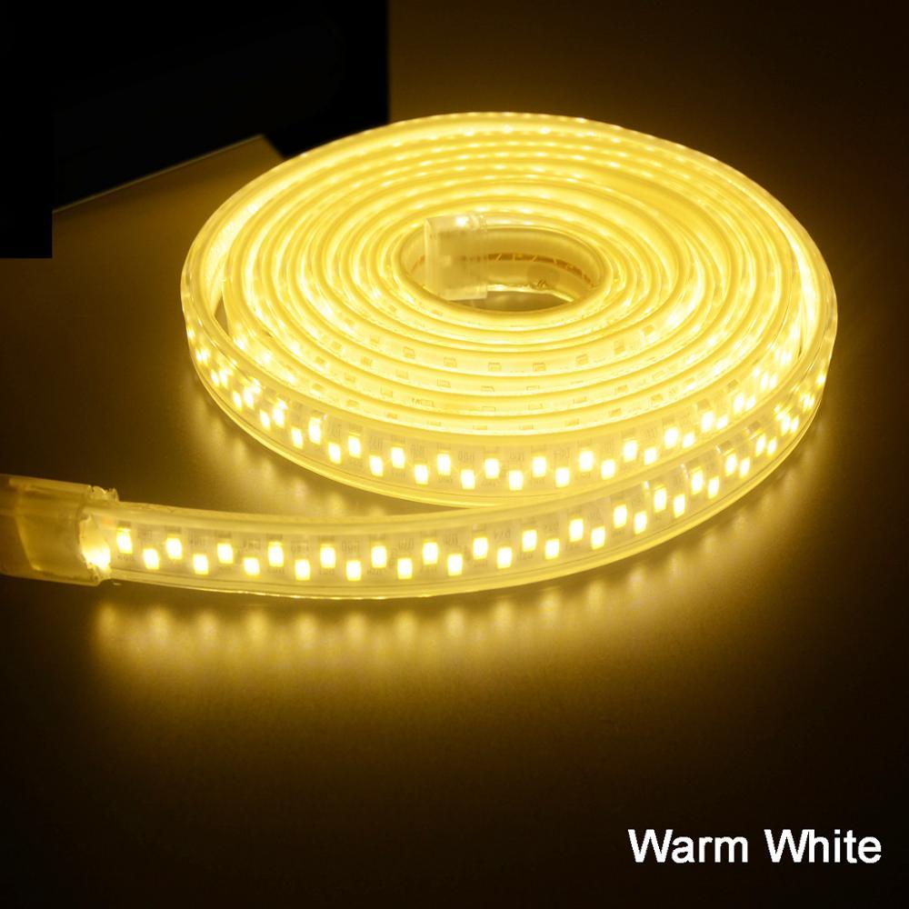 LED Strip Lighting AC 220V 240V IP67 Waterproof 5630 5730 SMD 180 LEDs/m Tape Ribbon Rope Light  1M 2M 3M 5M 10M 15M 20M 50M