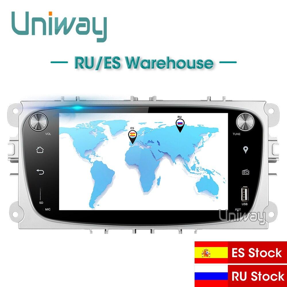 Uniway alfks771 2g + 32g android 8.1 carro dvd para o foco ford mondeo ford kuga ford S-MAX c-maxcar rádio