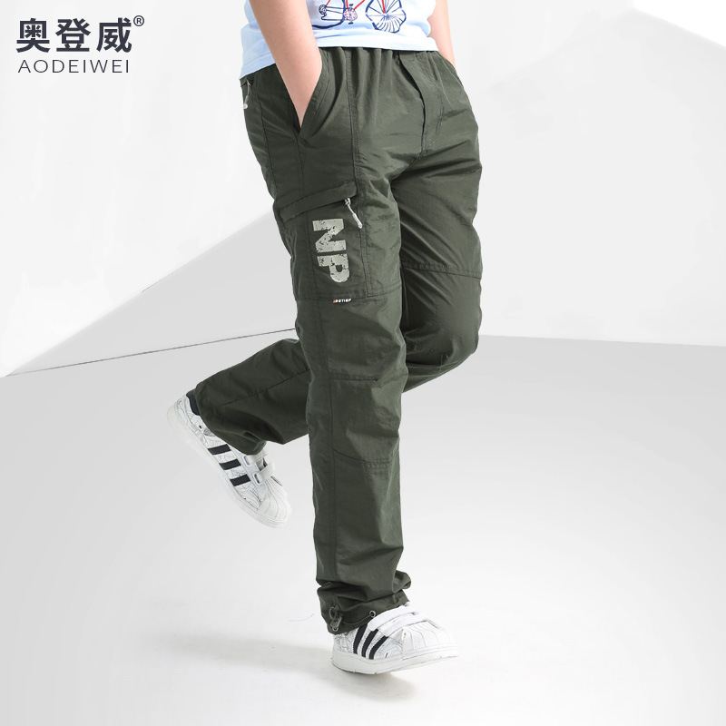 Boys' Sports Pants Spring And Autumn Big Boy Casual Trousers Children Casual Gymnastic Pants