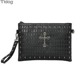 Image 5 - Корейская версия, сумка клатч Tidog с черепом для IPAD