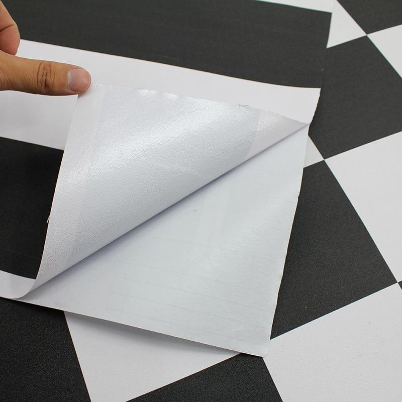 Купить с кэшбэком New White Black Self Adhesive Vinyl Wallpaper Living Room Kitchen Cabinet Furniture Stickers PVC Waterproof Marble Contact Paper